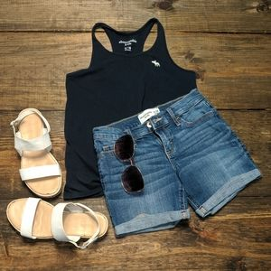 Abercrombie and Fitch girl's denim shorts